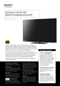 Schermo Full HD LED BRAVIA Professional da 55