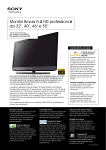 Monitor Bravia Full HD professionali da 32
