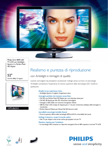 52PFL8605H/12 Philips TV LCD con Ambilight