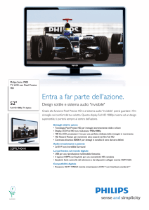 52PFL7404H/12 Philips TV LCD con Pixel Precise HD