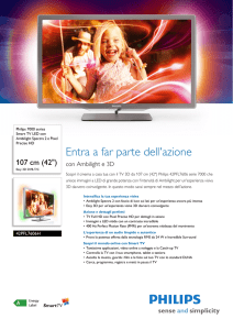 42PFL7606H/12 Philips Smart TV LED con Ambilight Spectra 2 e