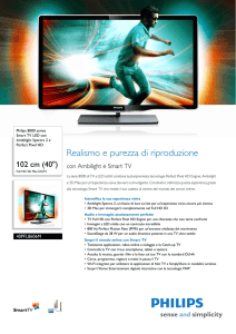 40PFL8606M/08 Philips Smart TV LED con Ambilight Spectra 2 e