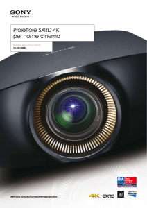 Proiettore SXRD 4K per home cinema