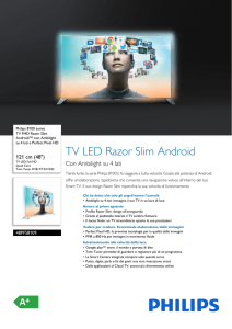 48PFS8109/12 Philips TV FHD Razor Slim Android™ con Ambilight