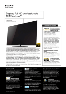 Display Full HD professionale BRAVIA da 65
