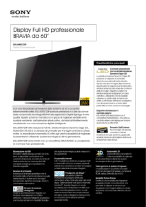 Display Full HD professionale BRAVIA da 60""