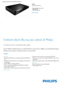 Product Leaflet: Lettore Blu-ray/DVD con riproduzione 3D