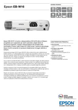 Epson EB-W16 - Pass Audio Video