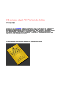 WHO vaccinazione anti-polio / WHO Polio Vaccination Certificate