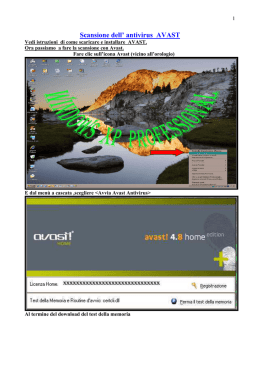 Scansione dell` antivirus AVAST