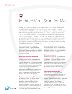 McAfee VirusScan for Mac Scheda Tecnica