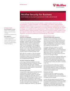 McAfee Security for Business Scheda Tecnica