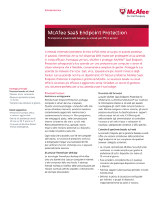 McAfee SaaS Endpoint Protection Scheda Tecnica