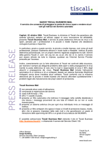 NASCE TISCALI BUSINESS MAIL