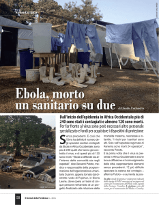 Ebola, morto un sanitario su due