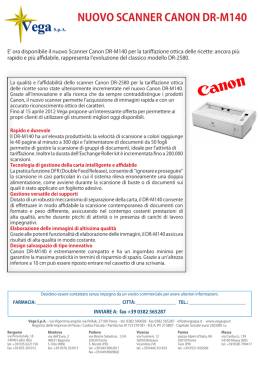 nuovo scanner canon dr-m140