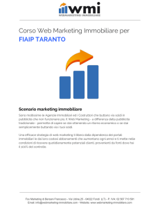 Corso Web Marketing Immobiliare per FIAIP TARANTO