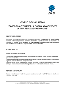 corso social media - Quality Learning Consulta