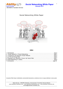 Social Networking White Paper