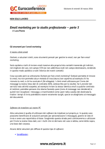Email marketing per lo studio professionale – parte 5