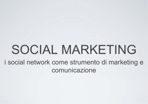 i social network come strumento di marketing e comunicazione