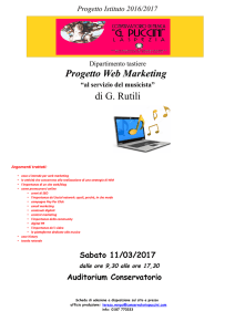 """Master ""Web Marketing"" a cura di G. Rutili"