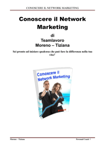 CONOSCERE IL NETWORK MARKETING