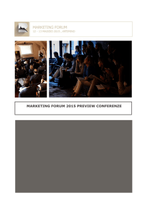 Programma Conferenze Marketing Forum 2015