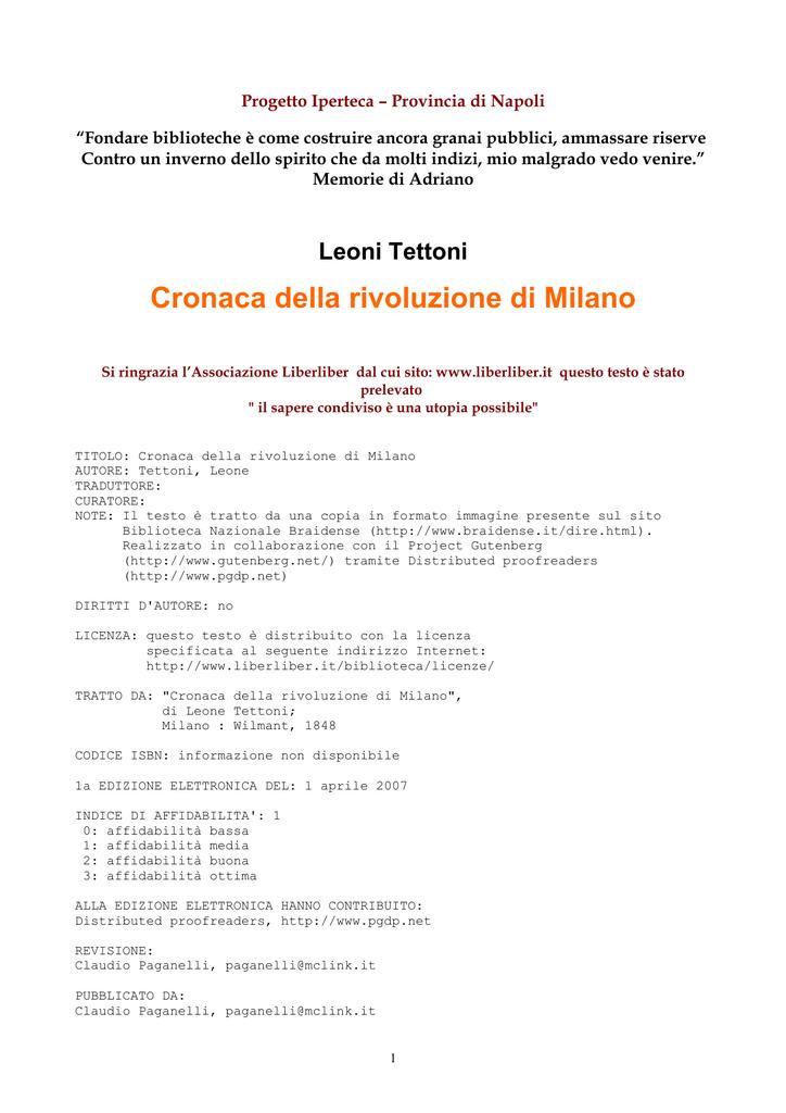 198f14a4ae Cronaca della rivoluzione di Milano