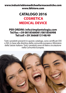 Cosmetica Medical device - Industrie Biomediche e Farmaceutiche