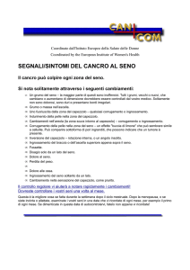 segnali/sintomi del cancro al seno - European Institute of Women`s