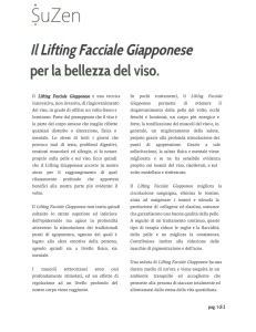 Il Lifting Facciale Giapponese