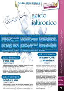 acido ialuronico - Rubinia Natural Cosmetics