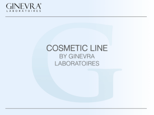 COSMETIC LINE - ginevra group