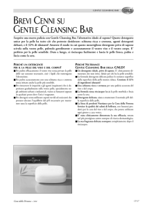 BREVI CENNI SU GENTLE CLEANSING BAR