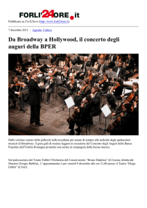 Da Broadway a Hollywood, il concerto degli auguri