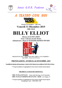 BILLY ELLIOT - Amici GOR Paderno