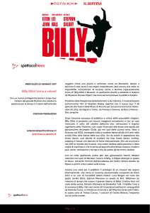 Billy Elliot torna a volare!