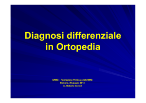 Diagnosi differenziale in Ortopedia