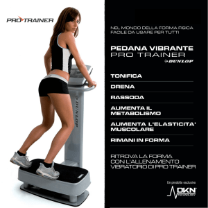 Pedana vibrante PRO TRAINER Dunlop - DKN