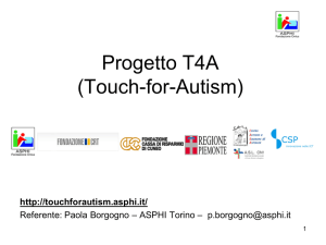 Progetto T4A (Touch-for-Autism)