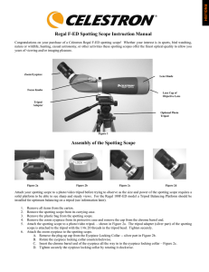 Regal F-ED Spotting Scope Instruction Manual Assembly of the