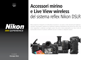 Accessori mirino e Live View wireless del sistema reflex Nikon DSLR