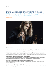 David Garrett, rocker col violino in mano