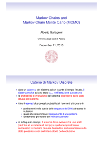 Markov Chains and Markov Chain Monte Carlo (MCMC)