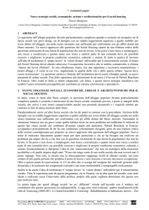 reviewed paper Nuove strategie sociali, economiche