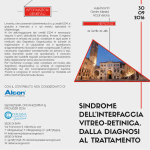 SINDROME DELL`INTERFACCIA VITREO