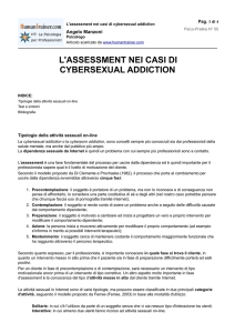 L`assessment nei casi di cybersexual addiction