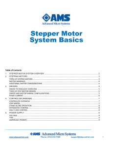Stepper Motor System Basics