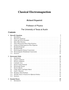 R. Fitzpatrick - Classical Electromagnetism
